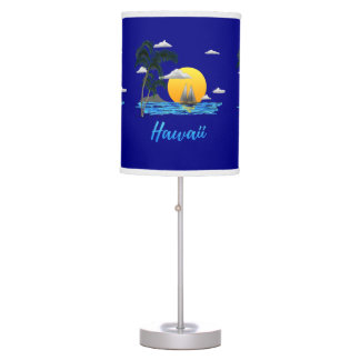 Hawaii Beach Sunset Table Lamp