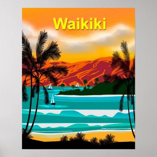 Hawaii BeachTravel Poster