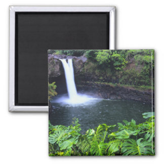 Hawaii, Big Island, Hilo, Rainbow Falls, Lush Magnet