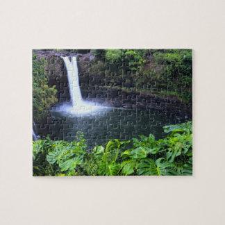 Hawaii, Big Island, Hilo, Rainbow Falls, Lush Puzzle