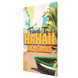 Hawaii Big Island Wedding Vintage Travel poster Canvas Print