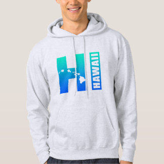 HAWAII (Blue HI Design) Hooded Pullover