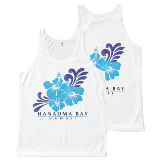 Hawaii Blue Hibiscus Flowers All-Over-Print Tank Top