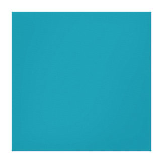 Hawaii Blue Personalized Aqua Teal Background Canvas Print