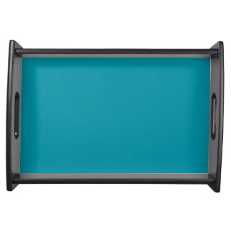 Hawaii Blue Personalized Aqua Teal Trend Color Serving Tray