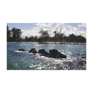 Hawaii Blue Shimmering Sea Canvas Print