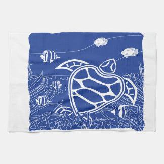 Hawaii Blue Turtle Kitchen Towel