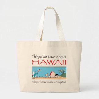 Hawaii by Harrop-T-b Large Tote Bag