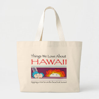 Hawaii by Harrop-T-c Large Tote Bag
