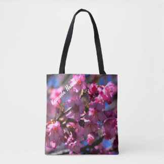 Hawaii Cherry Blossoms Tote Bag