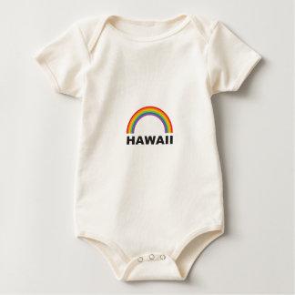 hawaii color arch baby bodysuit