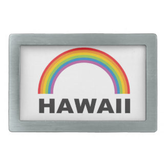 hawaii color arch rectangular belt buckle