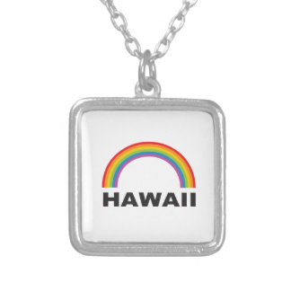 hawaii color arch silver plated necklace