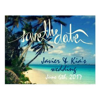 Hawaii Destination Beach Wedding Save the Date Post Cards