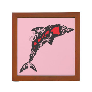 Hawaii Dolphin and Hawaii Islands Desk Organizer