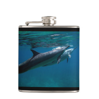 Hawaii Dolphins Hip Flask