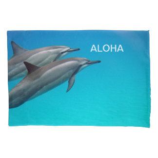Hawaii Dolphins with Aloha Pillowcase