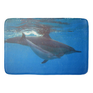 Hawaii dophins - mother and child bath mat