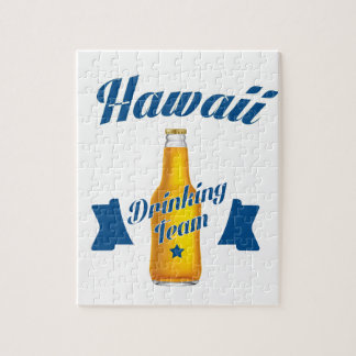 Hawaii Drinking team Jigsaw Puzzle