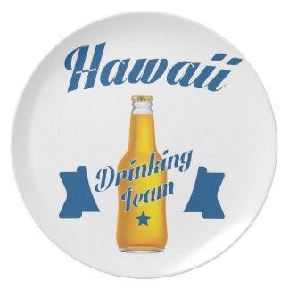 Hawaii Drinking team Plate