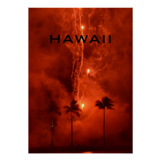 HAWAII FIREWORKS POSTER