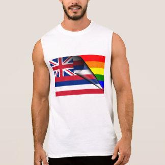 Hawaii Flag Gay Pride Rainbow Sleeveless T-shirts