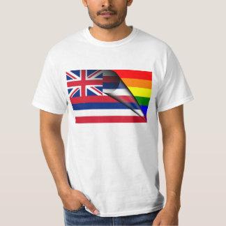 Hawaii Flag Gay Pride Rainbow T-Shirt