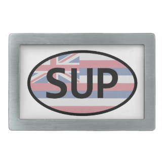 Hawaii Flag Standup Paddling Rectangular Belt Buckle