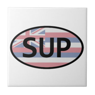 Hawaii Flag Standup Paddling Tile