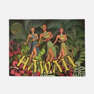 Hawaii Floral Door Mat Art Print Floral Flower