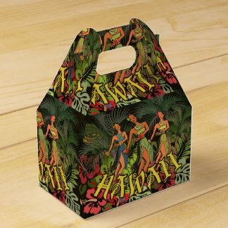 Hawaii Floral Earthy Graphic Design Art Flowers Favor Box