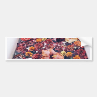 HAWAII FLORAL FLOWER BATH BUMPER STICKER