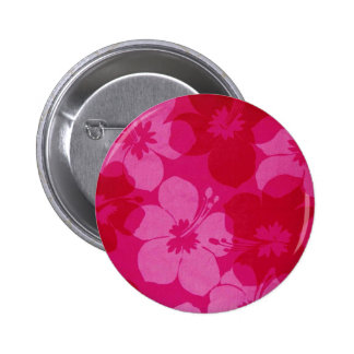 Hawaii flower 2 inch round button