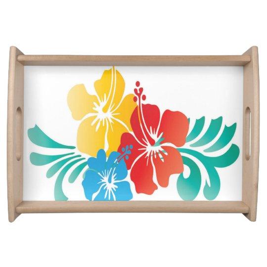 Hawaii Flowers Serving Platter