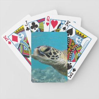 Hawaii Green Sea Turtle Bicycle Playing Cards