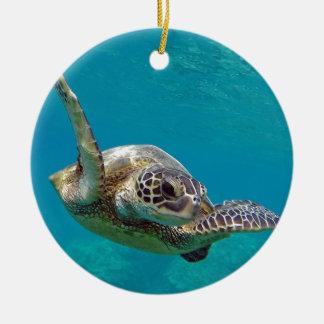 Hawaii Green Sea Turtle - Honu Ceramic Ornament