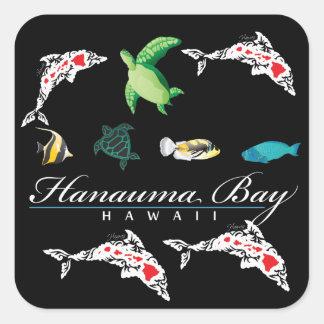 Hawaii Hanauma Bay Square Sticker