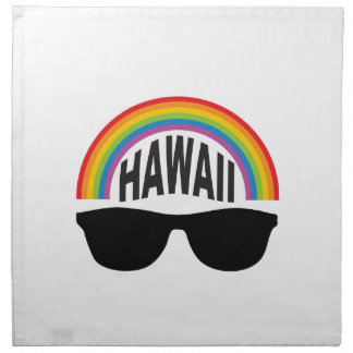 hawaii head art napkin