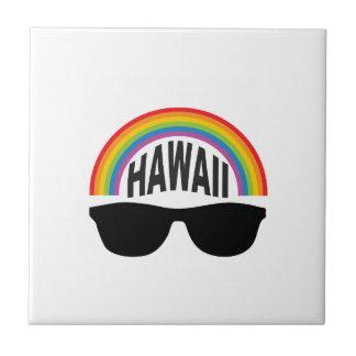 hawaii head art tile