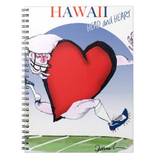 hawaii head heart, tony fernandes spiral notebook