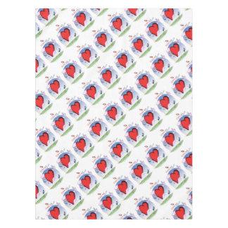 hawaii head heart, tony fernandes tablecloth
