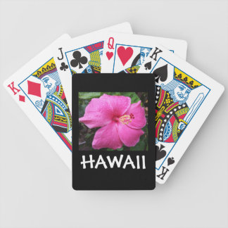 Hawaii Hibiscus  Flower Bicycle Playing Cards