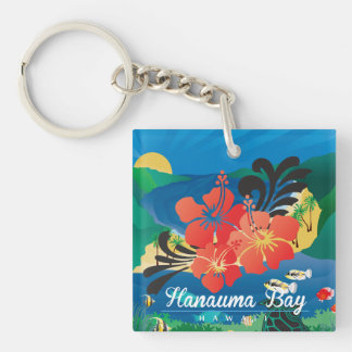 Hawaii Hibiscus Flowers Keychain