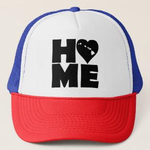 Hawaii Home Heart State Ball Cap Trucker Hat 682718e2bd83