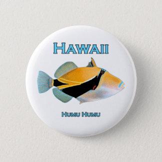 Hawaii Humu Humu Fish 2 Inch Round Button