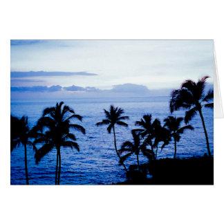 Hawaii in Blue Card