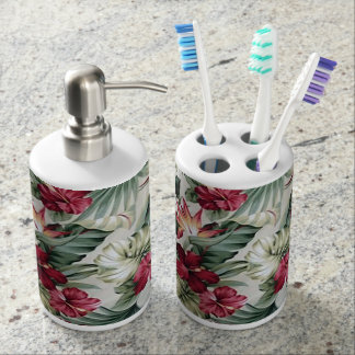 Hawaii Inspired Design Bathroom Set