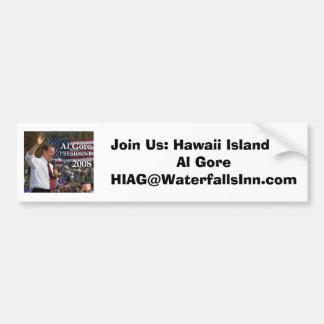 Hawaii Island for Al Gore Car Bumper Sticker