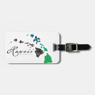 Hawaii islands 28 luggage tag
