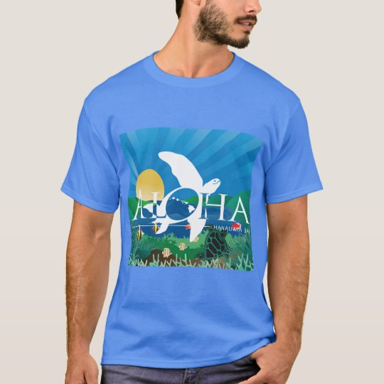 Hawaii Islands Aloha Turtle T-Shirt